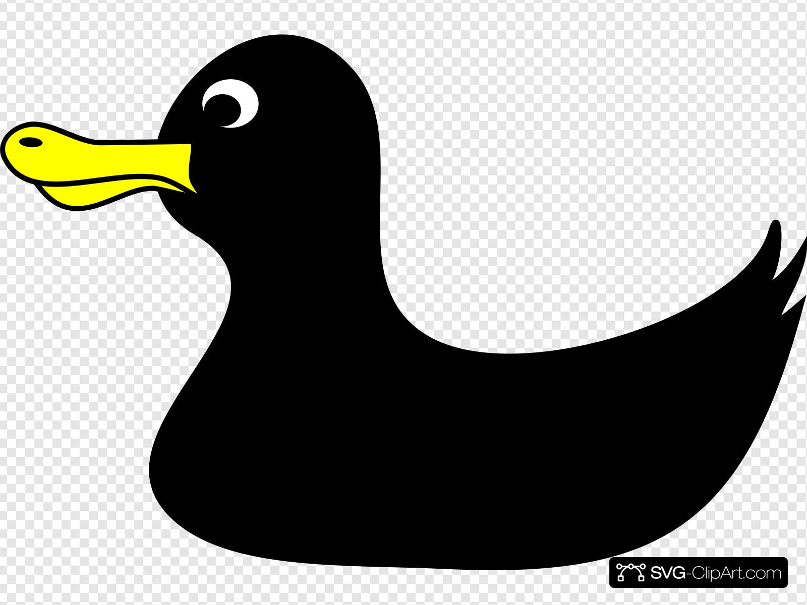 Black duck clipart clip black and white Black Duck Clip art, Icon and SVG - SVG Clipart clip black and white