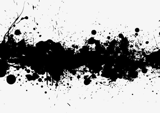 Black effect clipart png transparent download Transverse Black Ink Splash Effect, Splash Clipart, Black, Ink PNG ... png transparent download