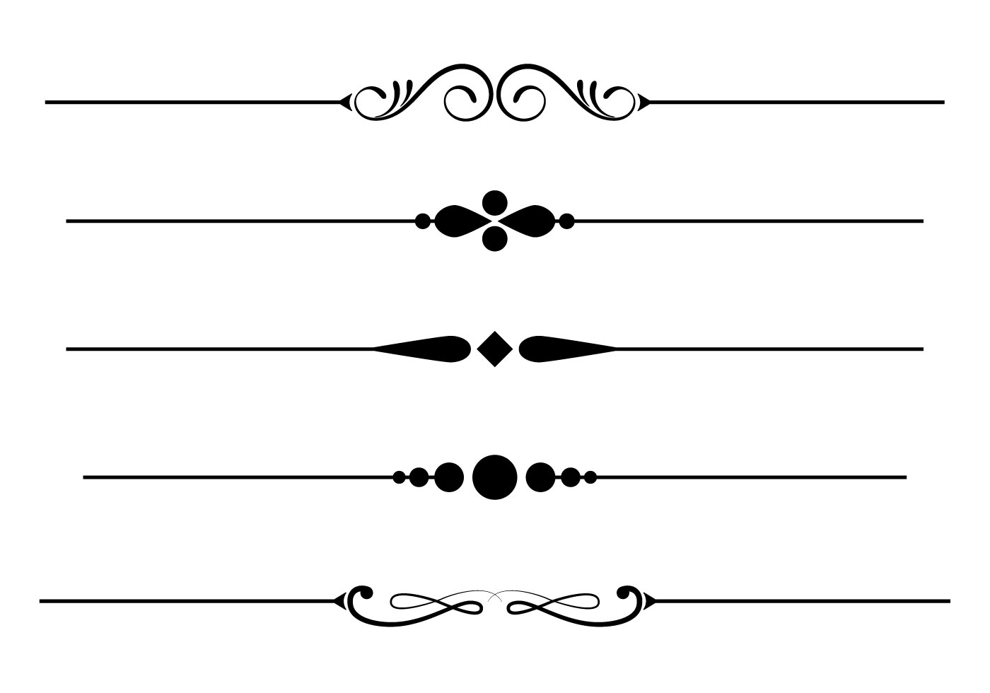 Black elegant underline clipart high def image stock Fancy Underline Free Vector Art - (1,825 Free Downloads) image stock