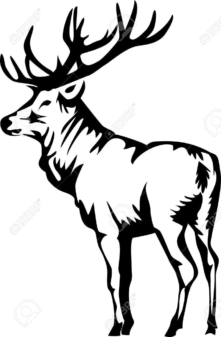 Black elk clipart png royalty free download Elk Clipart Black And White   Free download best Elk Clipart Black ... png royalty free download