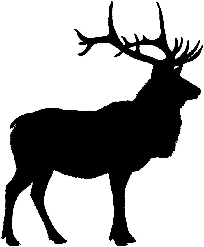Black elk clipart svg black and white stock Elk Clipart 5 - Elk PNG Black And White #55663 - PNG Images - PNGio svg black and white stock