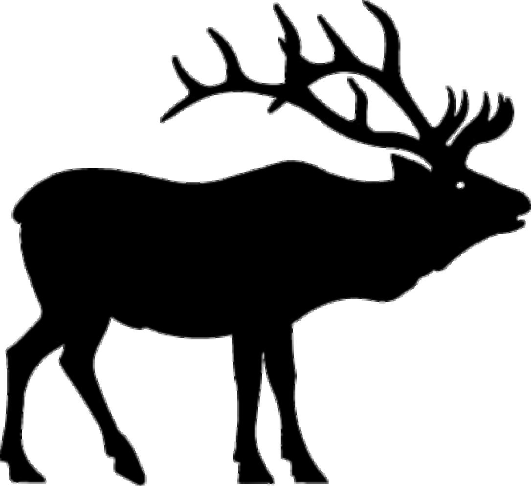 Black elk clipart clip Elk PNG Black And White Transparent Elk Black And White.PNG Images ... clip