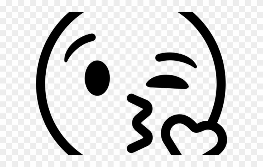 Black emoji clipart picture Kiss Smiley Clipart Kiss Emoji - Emoji Clipart Black And White - Png ... picture