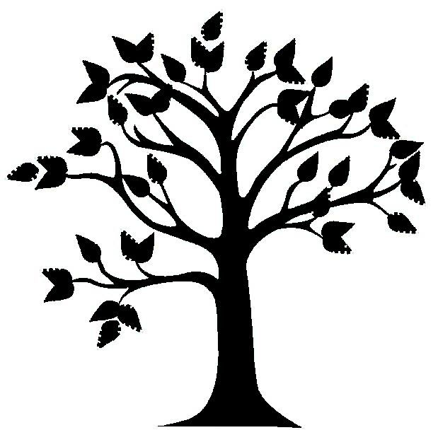 Black fabric fring cliparts png royalty free Best Tree Clipart Black And White #18993 - Clipartion.com | trees ... png royalty free