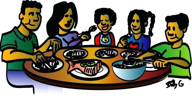 Black family dinner clipart jpg library stock black family at dinner table – darmehr.me jpg library stock