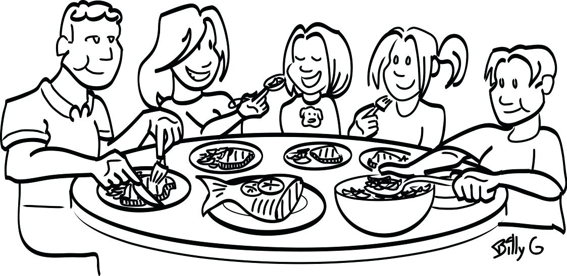 Black family dinner clipart clipart freeuse stock Collection of 14 free Feast clipart family supper aztec clipart ... clipart freeuse stock
