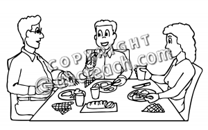 Black family dinner clipart graphic freeuse download Black Family Eating Dinner Clipart Images & Pictures Becuo - Free ... graphic freeuse download