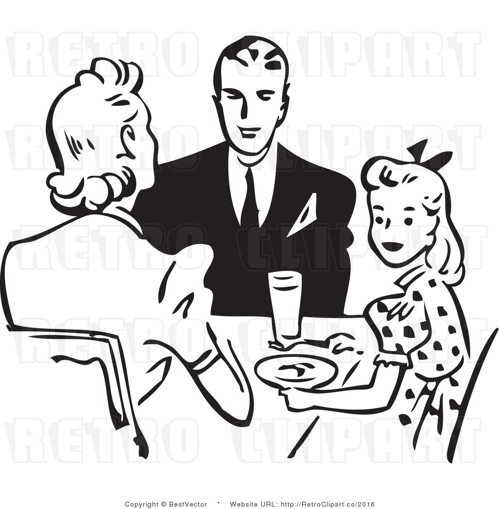Black family eating together clipart graphic library library Free Clipart Family Eating - Free Clipart graphic library library