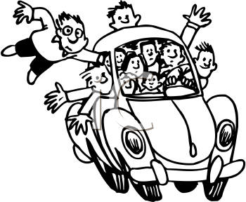 Black family in car clipart image transparent Free Road Trip Clipart Black And White, Download Free Clip Art, Free ... image transparent