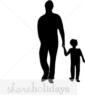 Black father tten son clipart vector Black Father And Son Clipart vector