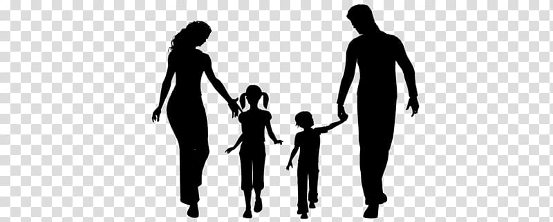 Black father with kids clipart clipart freeuse download Parent Child Father Family, silhouette family transparent background ... clipart freeuse download