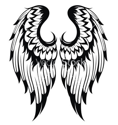 Wings and halo with watercolor clipart tattoo design png transparent Angel wings vector | my board | Angel wings, Wings, Tattoos png transparent