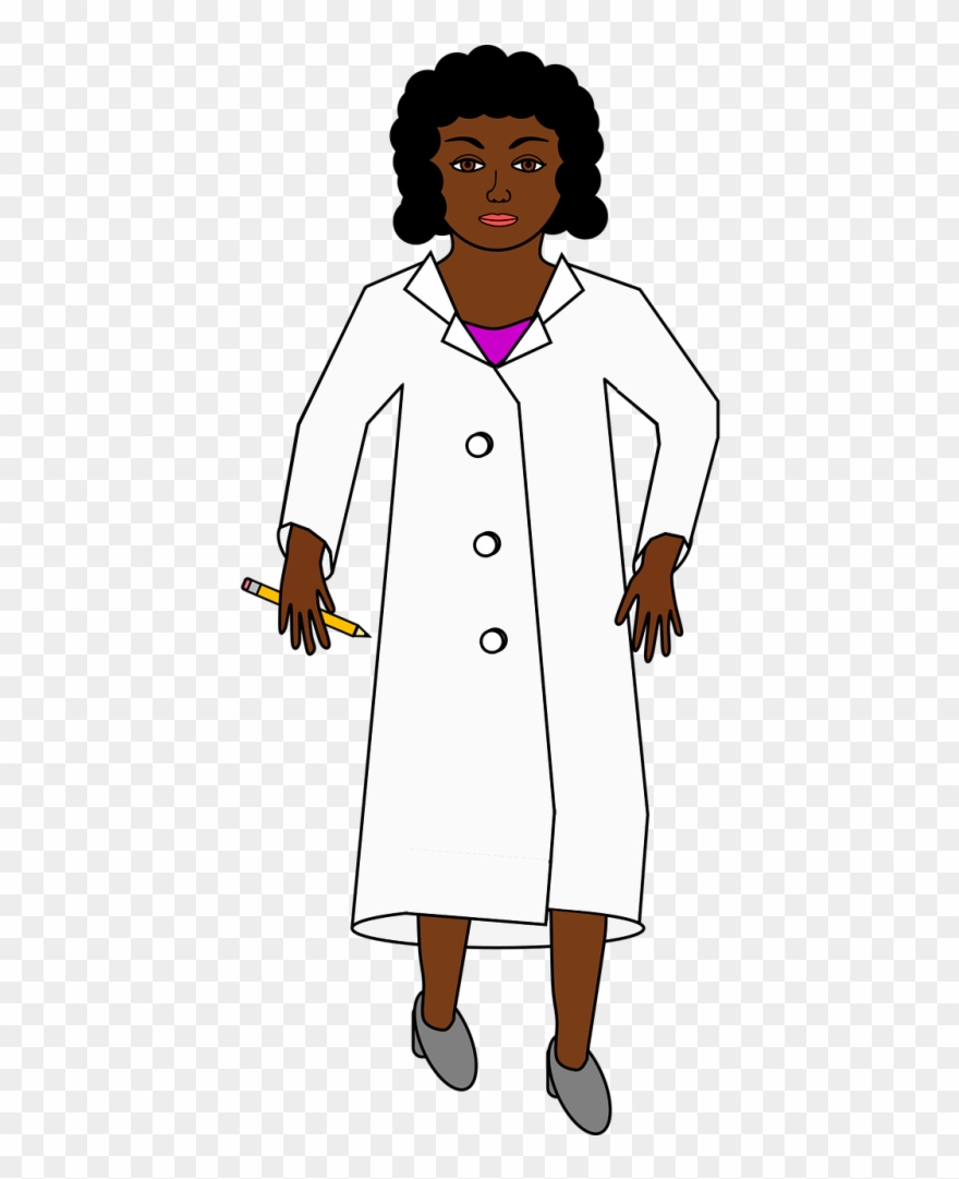 Black female doctor clipart clip art royalty free download Black Woman,chemist,female,lab - Doctor Clip Art Free - Png Download ... clip art royalty free download