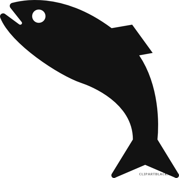 Grayscale Fish Clipart - ClipartBlack.com png free stock