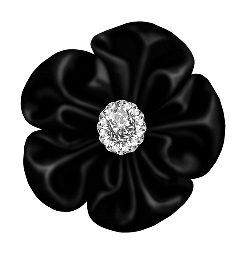 Black flower clipart vector download Black Flower Bow with Diamond   Gallery Yopriceville - High-Quality ... vector download