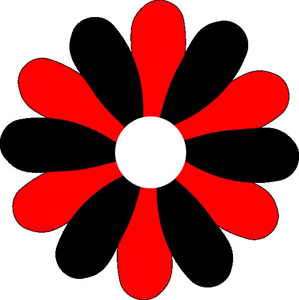 Black flower clipart banner Black And Red Gerber Daisy Clip Art at Clker.com - vector clip art ... banner