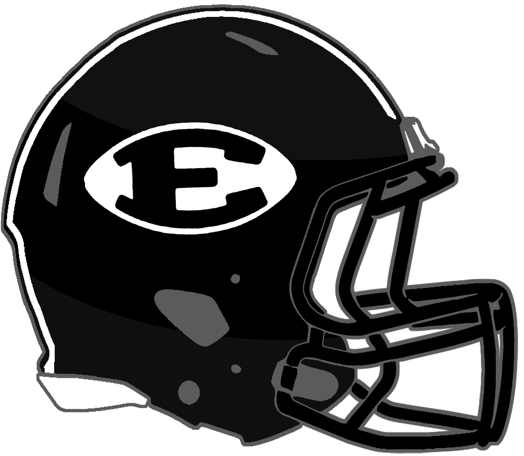 Black football helmet clipart picture transparent download Mississippi High School Football Helmets: 2A picture transparent download