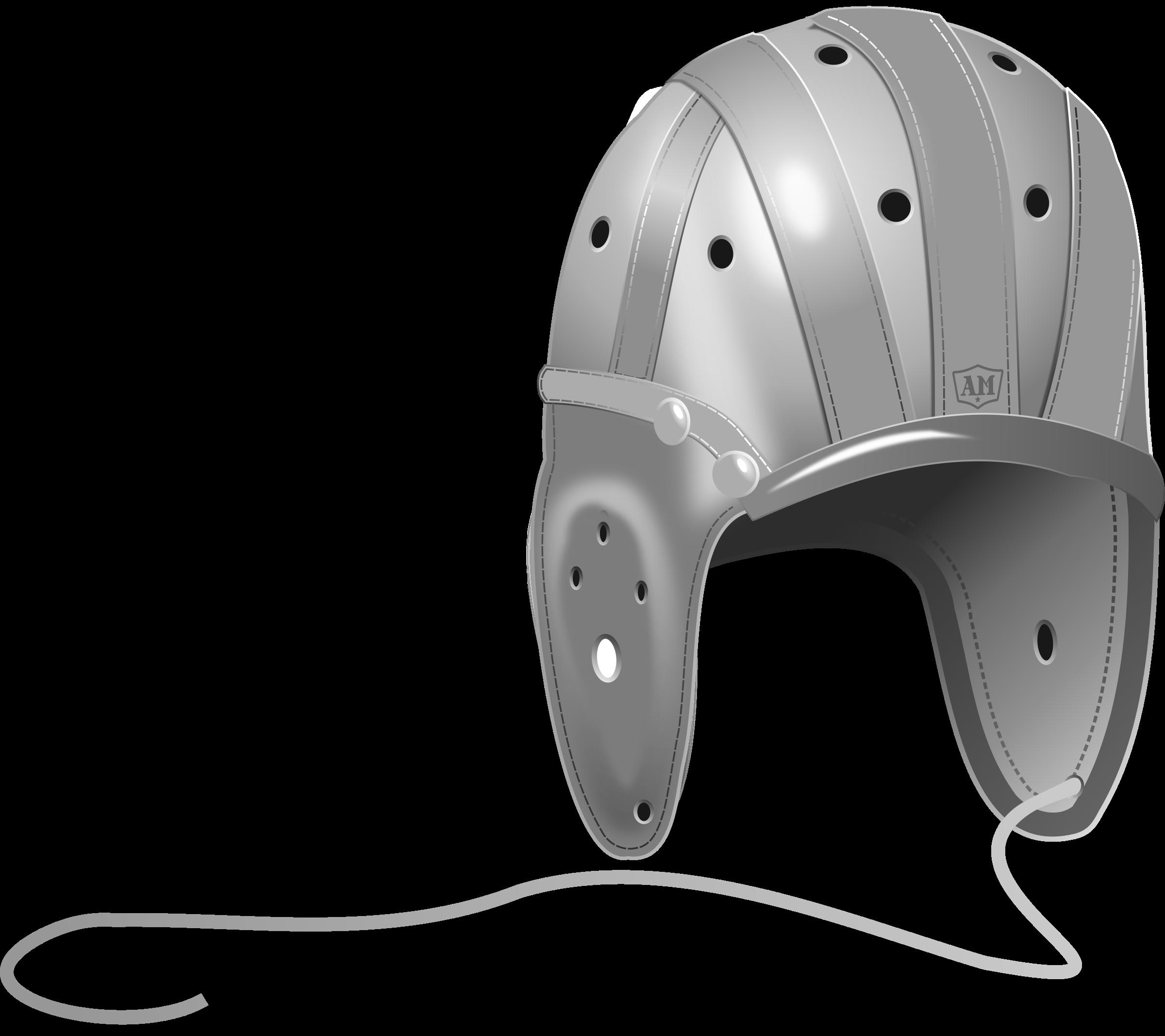Black football helmet clipart image download Clipart - 1940's Leather Football Helmet image download