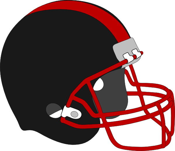 Football homecoming clipart black and white Football Helmet Red And Black Clip Art at Clker.com - vector clip ... black and white