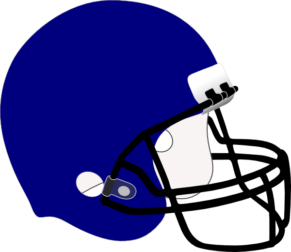 Blue clip art at. Football helmet clipart black