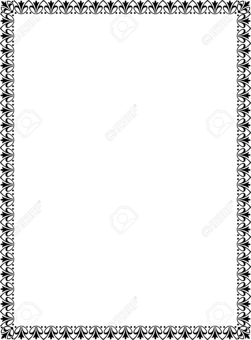 Simple tiling and white. Black frame thin clipart