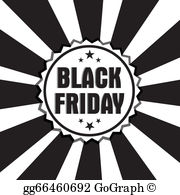 Black friday deals free clipart graphic black and white Black Friday Clip Art - Royalty Free - GoGraph graphic black and white