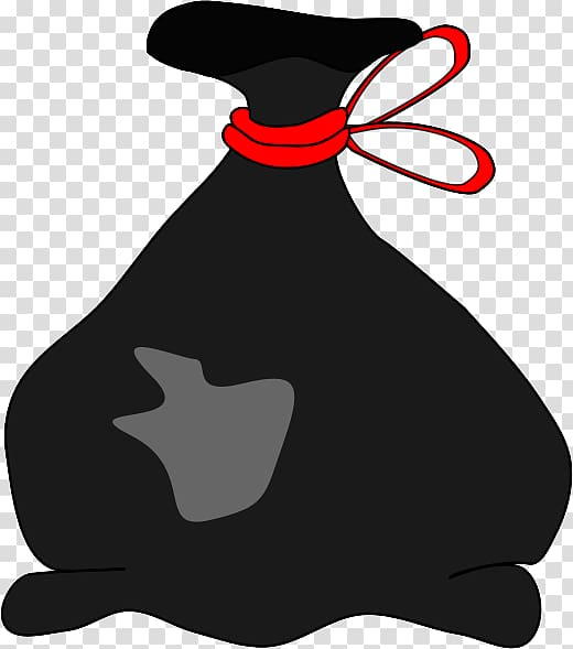 Black garbage bag clipart clip art free library Black pouch with red tie illustration, Rubbish Bins & Waste Paper ... clip art free library
