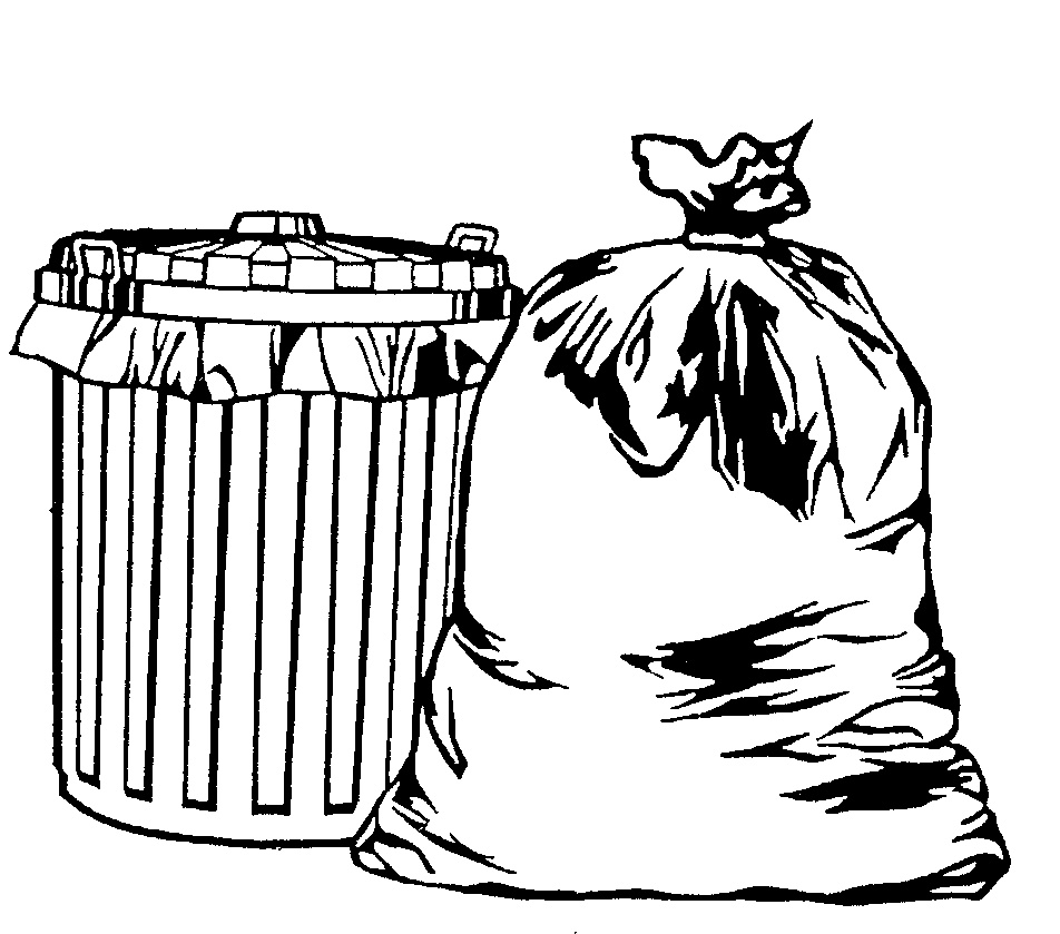 Trash can fell down clipart