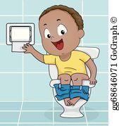 Boys potty clipart clip transparent Toilet Training Clip Art - Royalty Free - GoGraph clip transparent