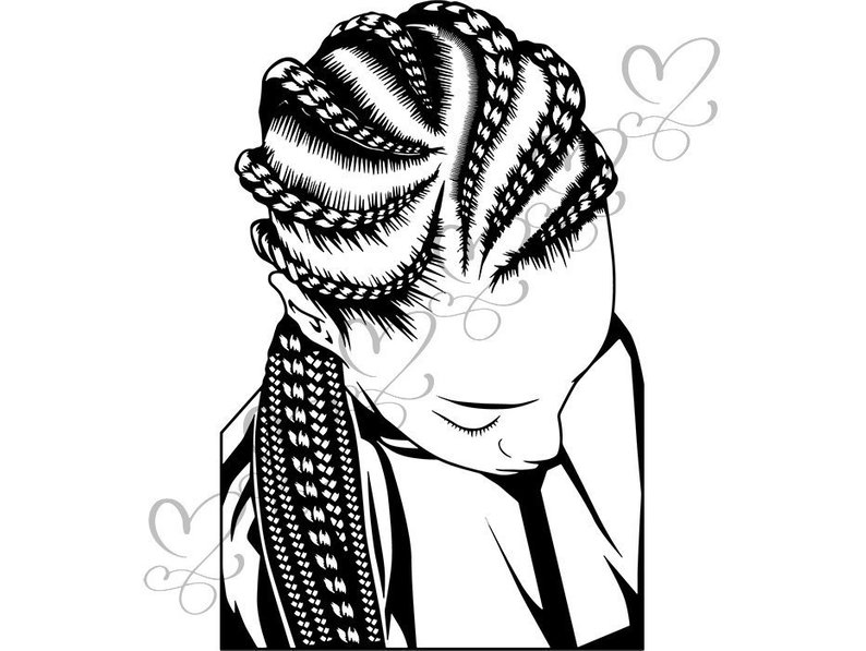 Black girl hairstyles braids clipart free stock Braid Drawing | Free download best Braid Drawing on ClipArtMag.com free stock