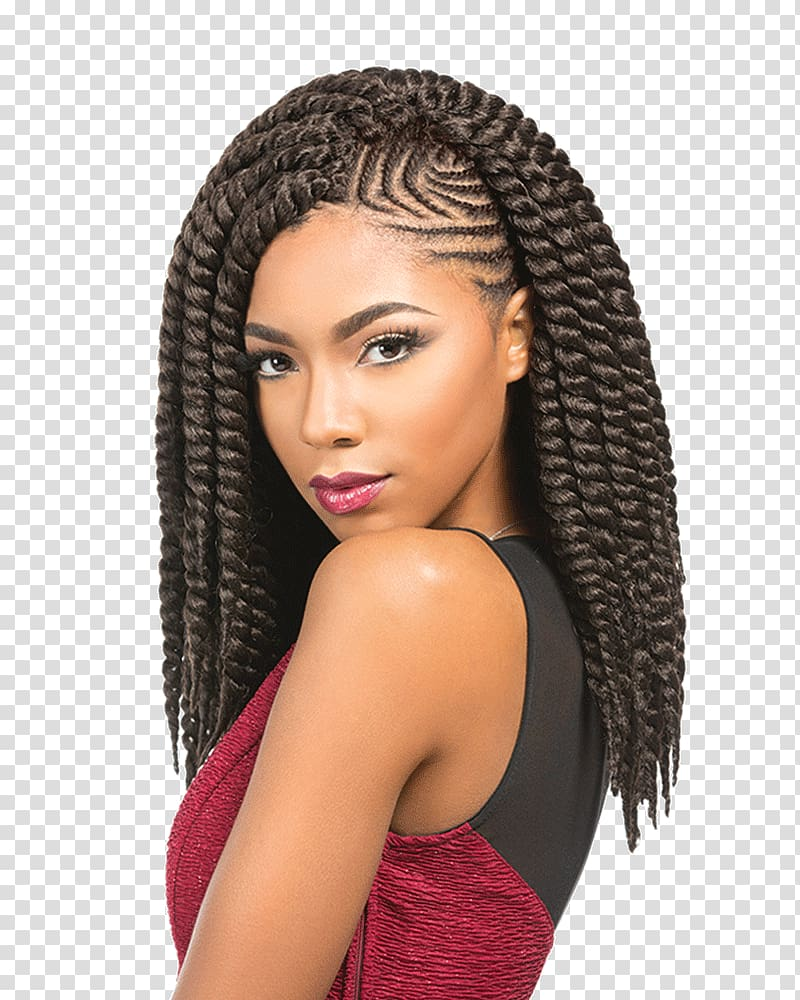 Black girl hairstyles braids clipart black and white download Hair twists Crochet braids Artificial hair integrations Hairstyle ... black and white download