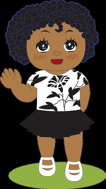 Black girl toddler clipart clip transparent Cartoon,Afro,Illustration,Clip art,Black hair,Art,Child,Toddler ... clip transparent