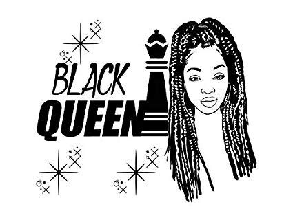 Black girl with braids clipart picture freeuse Amazon.com: EvelynDavid Pretty Black Woman Braid Hair Stylish ... picture freeuse