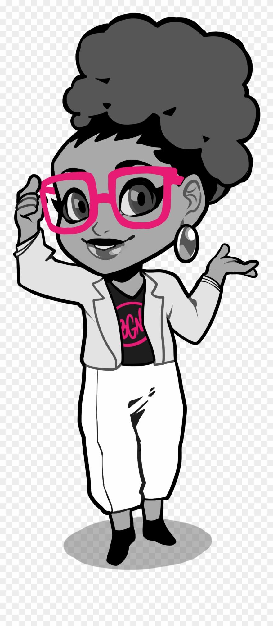 Black girl with sunglasses clipart jpg black and white stock 1 - Black Girl Nerds Logo Clipart (#809498) - PinClipart jpg black and white stock