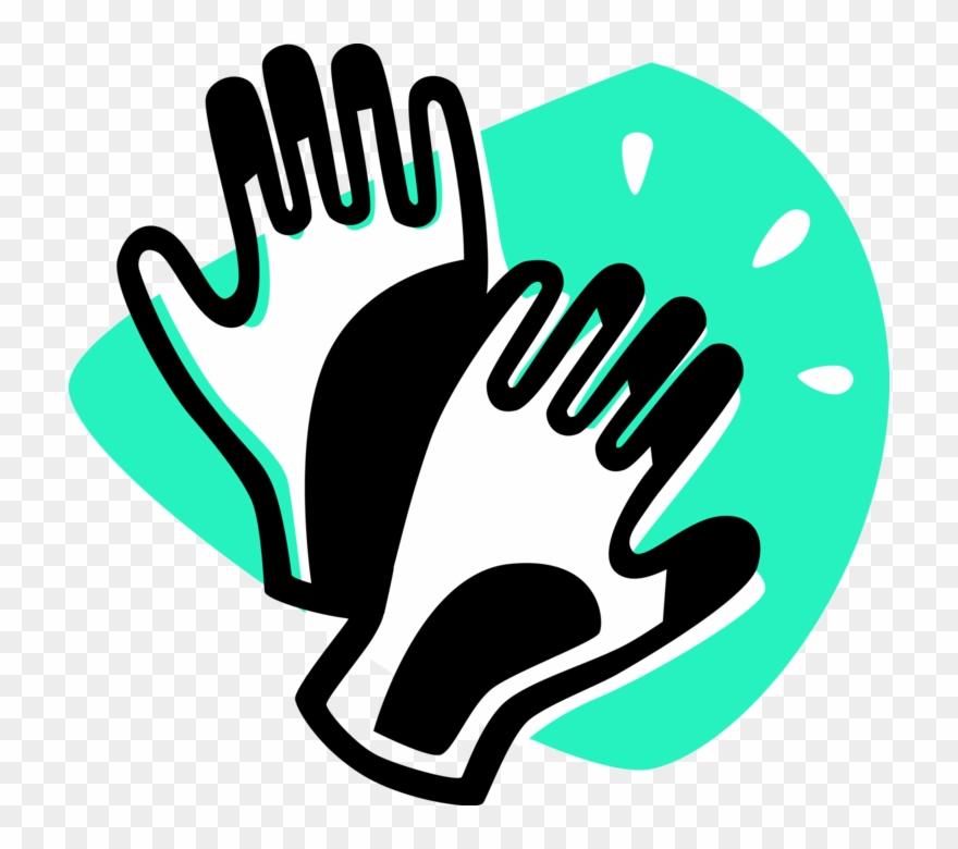 Black gloves clipart svg transparent download Vector Illustration Of Safety Gloves, Rubber Gloves - Black Gloves ... svg transparent download