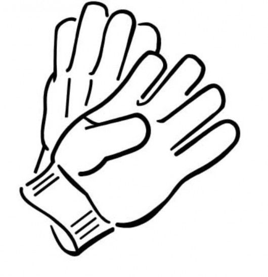 Glove clipart black and white svg freeuse Gloves clipart black and white » Clipart Station svg freeuse