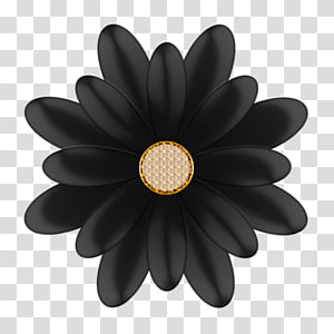 Black gold flowers clipart jpg library stock Decorative flowerses in, black and gray flower illustration ... jpg library stock
