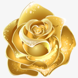 Black gold flowers clipart clip transparent stock Yellow Rose Clipart Beautiful - Gold Flowers Transparent Background ... clip transparent stock