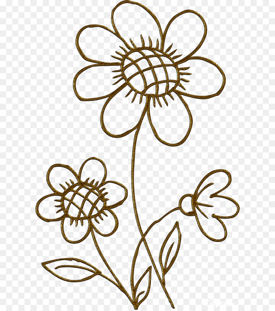 Black gold flowers clipart picture freeuse download Black And White Flower png download - 670*1017 - Free Transparent ... picture freeuse download