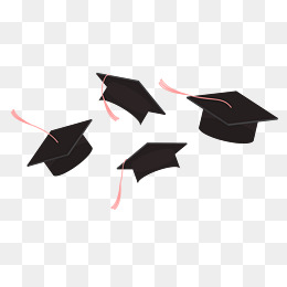 Throwing caps silluete cliparts jpg freeuse stock Graduation Cap PNG Black And White Transparent Graduation Cap Black ... jpg freeuse stock