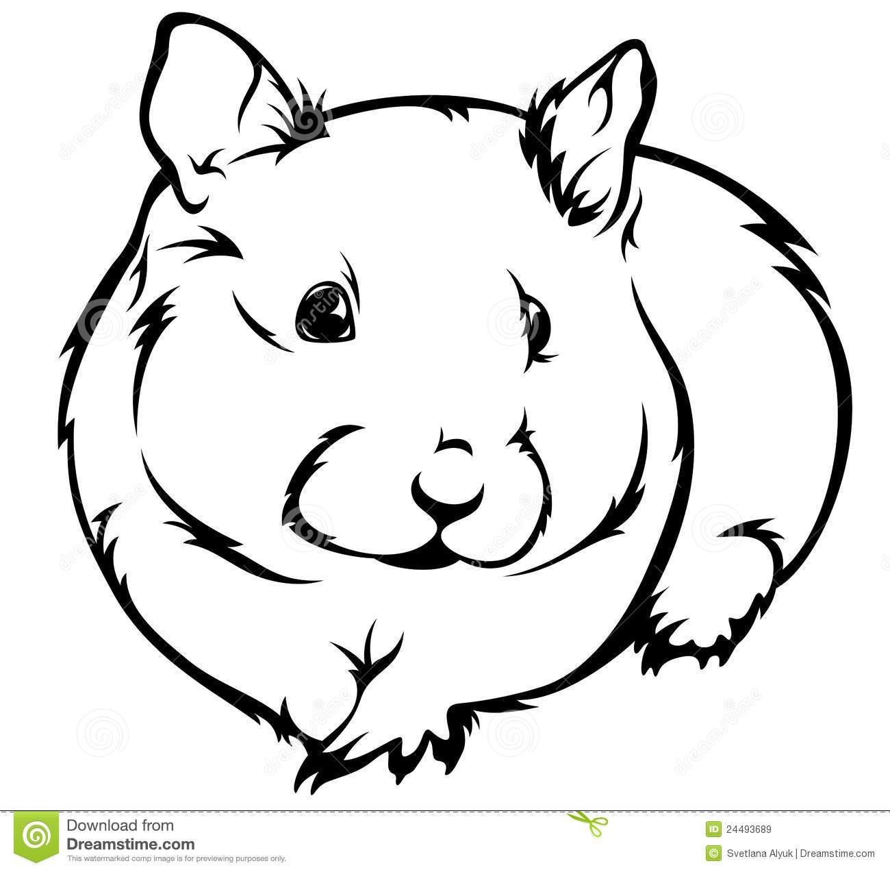 Black hamster clipart freeuse library Hamster clipart black and white 1 » Clipart Portal freeuse library