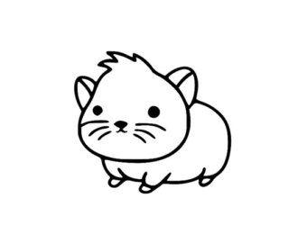 Black hamster clipart free stock Hamster clipart fuzzy #3 | Animal Love in 2019 | Clip art, Easy ... free stock