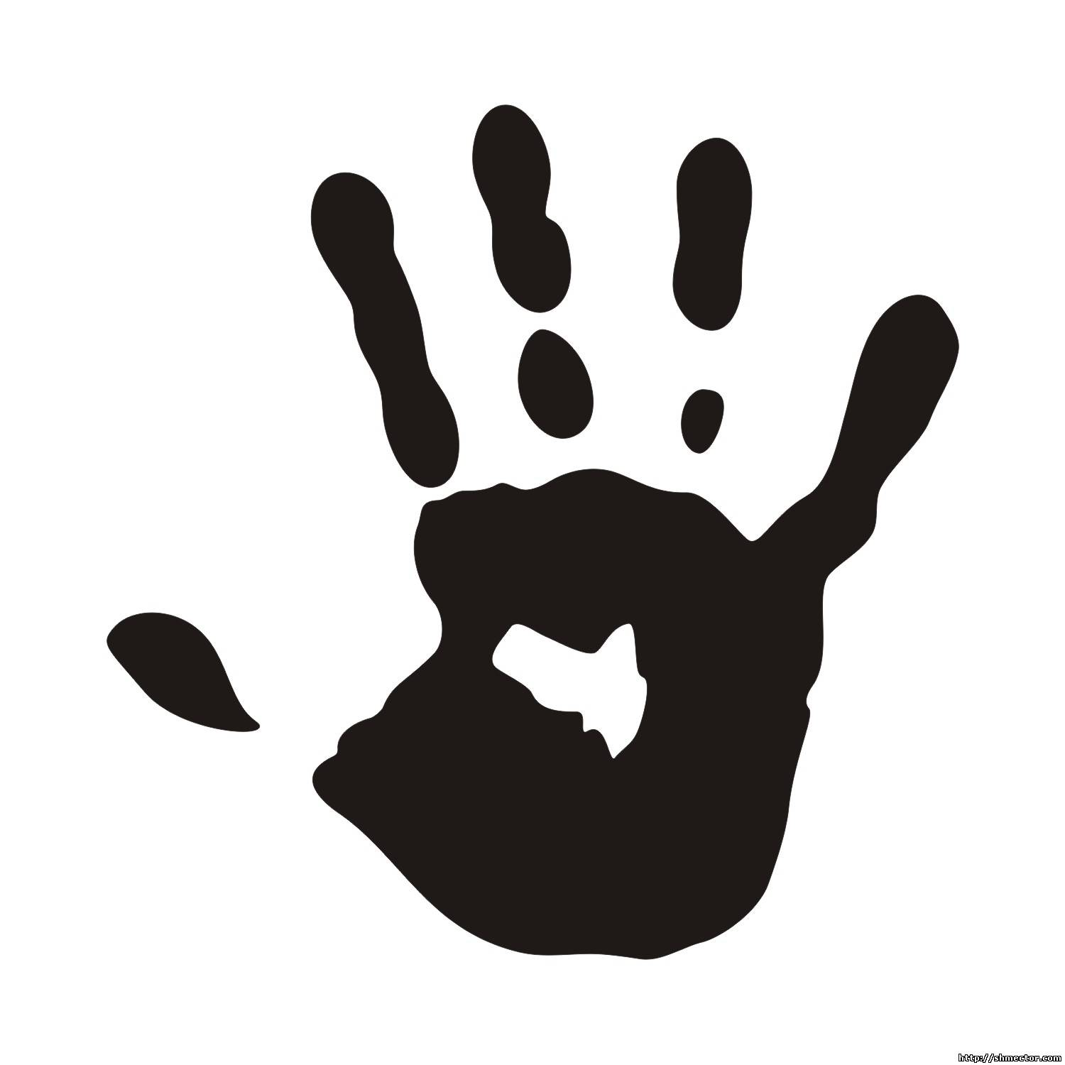 Black hand print clipart clip black and white Handprint Clipart Black And White | Free download best Handprint ... clip black and white