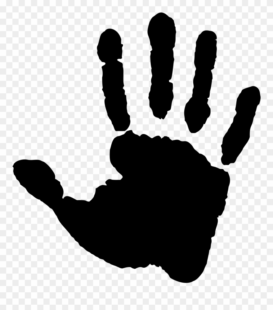 Black hand print clipart jpg black and white library Big Image - Right Hand Print Black Clipart (#3207898) - PinClipart jpg black and white library