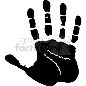 Black hand print clipart black and white stock right handprint clipart. Royalty-free clipart # 379601 black and white stock