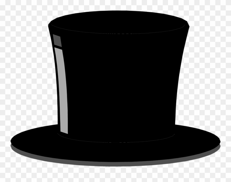 Black top hat clipart clipart black and white library Top Hat Free Stock Photo Illustration Of A Black Top - Black Top Hat ... clipart black and white library