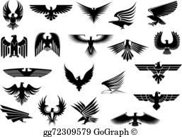 Black hawks clipart picture royalty free Black Hawk Clip Art - Royalty Free - GoGraph picture royalty free