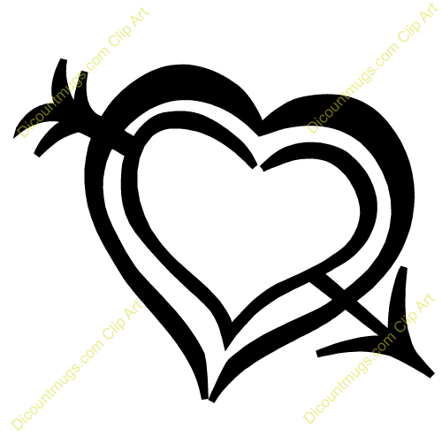 Black heart arrow clipart vector freeuse stock Black Heart Outlines | Clipart Panda - Free Clipart Images vector freeuse stock