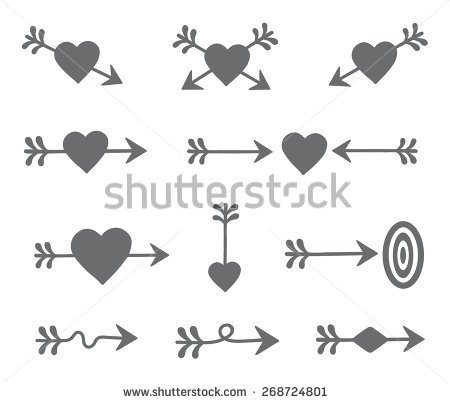 Black heart arrow clipart jpg download Black and white heart with arrow clipart - ClipartFest jpg download