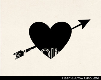 Black heart arrow clipart png freeuse Heart with arrow clipart silhoutte - ClipartFest png freeuse